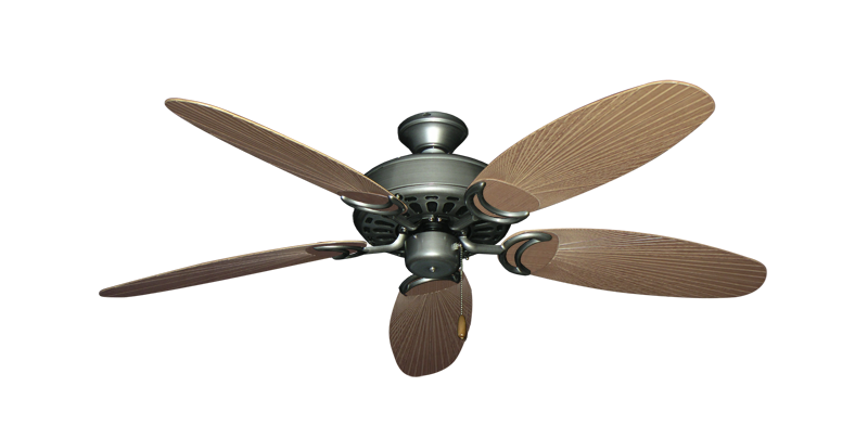 """Picture of Dixie Belle Brushed Nickel with 52"""" Outdoor Leaf Tan Blades"""