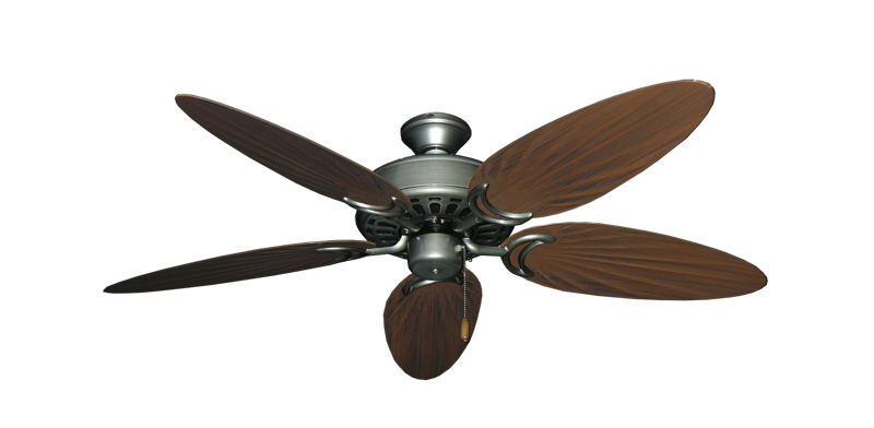 "Picture of Dixie Belle Brushed Nickel with 52"" Outdoor Palm Brushed Nickel Blades"