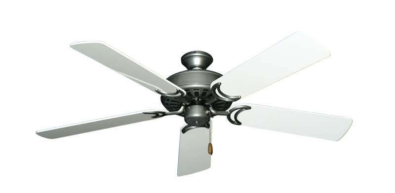 """Picture of Dixie Belle Brushed Nickel with 52"""" Pure White Gloss Blades"""