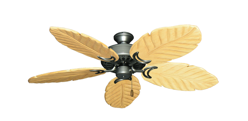 """Dixie Belle Brushed Nickel with 52"""" Series 125 Arbor Maple Blades"""