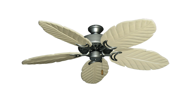 "Picture of Dixie Belle Brushed Nickel with 52"" Series 125 Arbor Whitewash Blades"