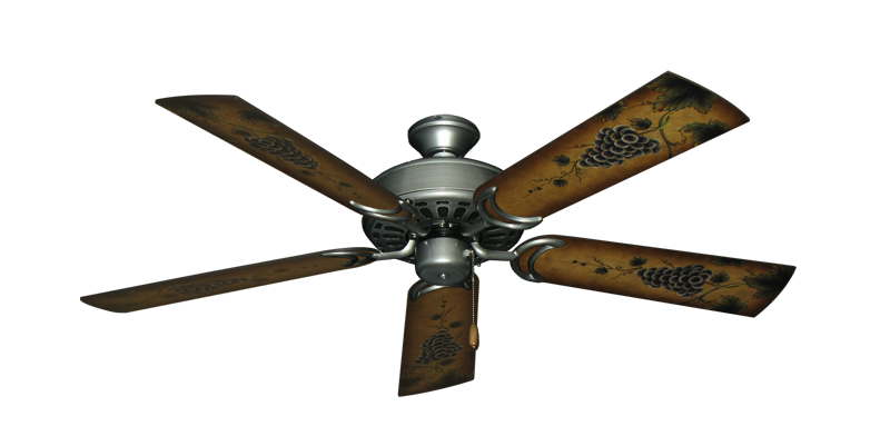"""Dixie Belle Brushed Nickel with 52"""" Series 353 Arbor Grapes Blades"""