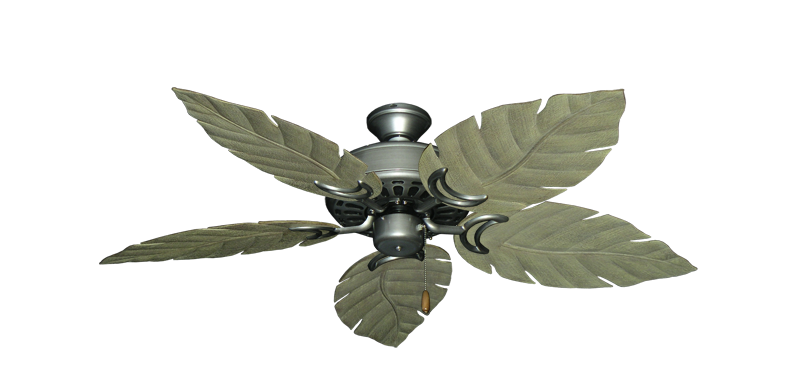 """Picture of Dixie Belle Brushed Nickel with 52"""" Venetian Driftwood Blades"""