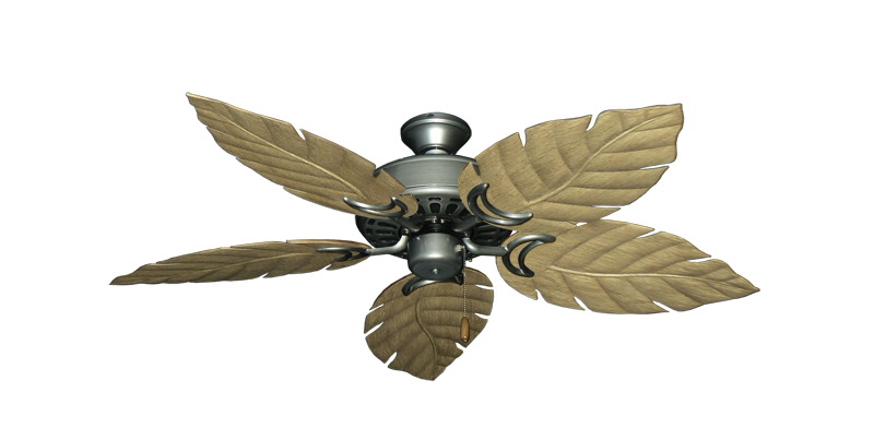 "Dixie Belle Brushed Nickel with 52"" Venetian Walnut Blades"
