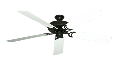 """Picture of Riviera Oil Rubbed Bronze with 60"""" Outdoor Pure White Blades"""
