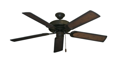 "Picture of Raindance Oil Rubbed Bronze with 52"" Distressed Hickory Blades"