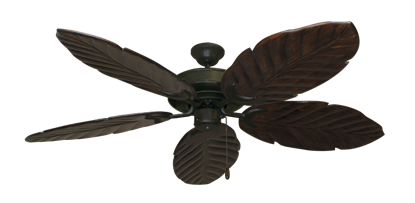 "Raindance Oil Rubbed Bronze with 58"" Series 100 Arbor Dark Walnut Blades"