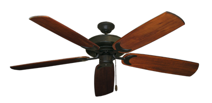 "Picture of Raindance Oil Rubbed Bronze with 60"" Series 450 Arbor Cherrywood Blades"