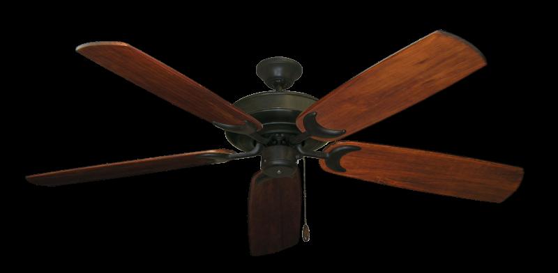 "Raindance Oil Rubbed Bronze with 60"" Series 450 Arbor Cherrywood Blades"