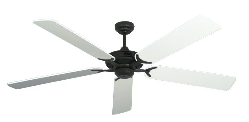 "Picture of Coastal Air Oil Rubbed Bronze with 60"" Pure White Blades"