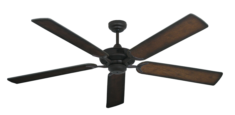 """Picture of Coastal Air Oil Rubbed Bronze with 60"""" Distressed Hickory Blades"""