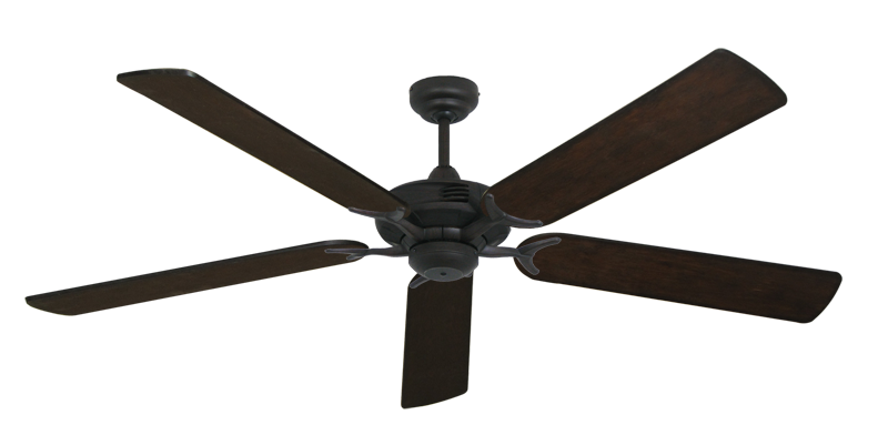 """Coastal Air Oil Rubbed Bronze with 60"""" Distressed Walnut Blades"""
