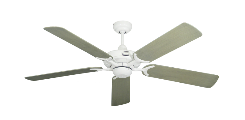 """Coastal Air Pure White with 52"""" Outdoor Driftwood Blades"""