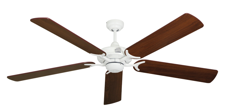 """Picture of Coastal Air Pure White with 60"""" Walnut Blades"""