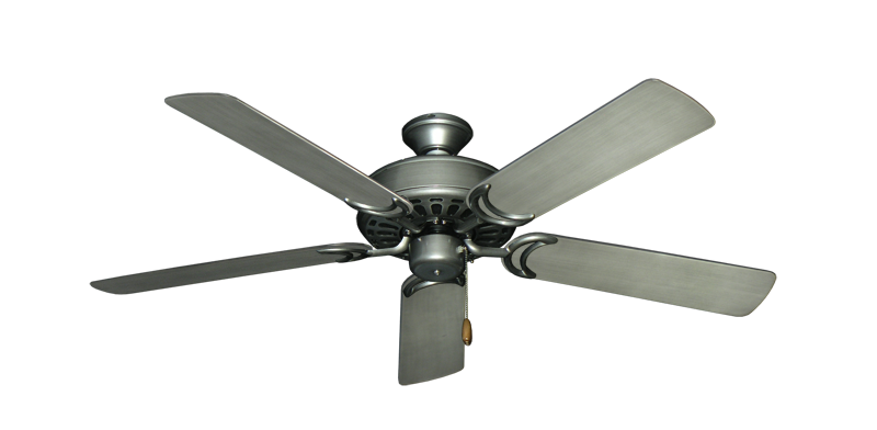 "Dixie Belle Brushed Nickel with 52"" Outdoor Brushed Nickel BN-1 Blades"