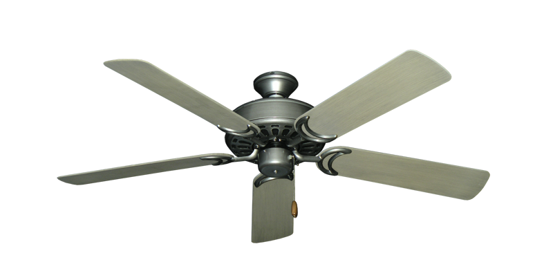"""Dixie Belle Brushed Nickel with 52"""" Outdoor Driftwood Blades"""