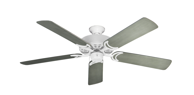 "Picture of Dixie Belle Pure White with 52"" Outdoor Brushed Nickel BN-1 Blades"