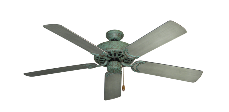 """Dixie Belle Verde Green with 52"""" Outdoor Brushed Nickel BN-1 Blades"""