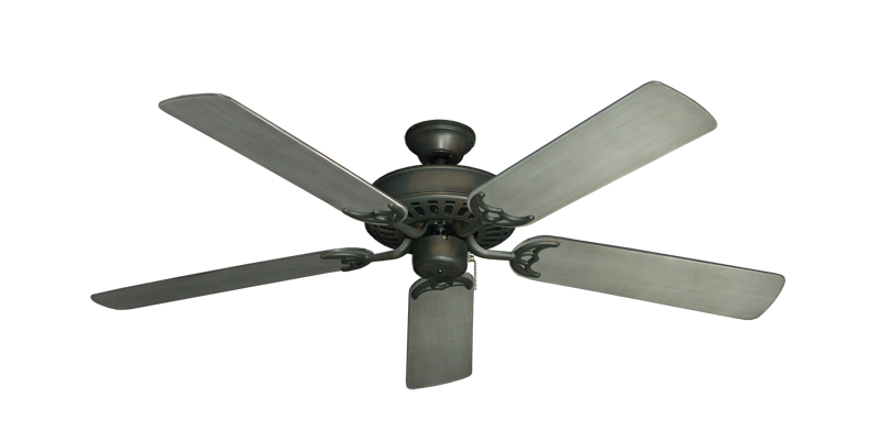 """Bimini Breeze V Oil Rubbed Bronze with 52"""" Outdoor Brushed Nickel BN-1 Blades"""