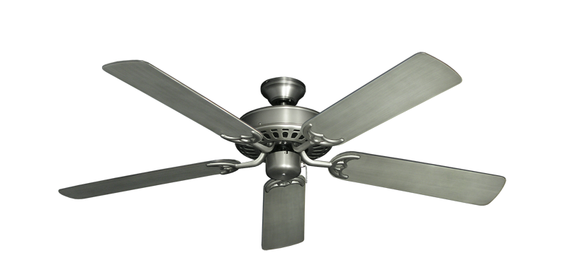 "Picture of Bimini Breeze V Satin Steel with 52"" Outdoor Brushed Nickel BN-1 Blades"