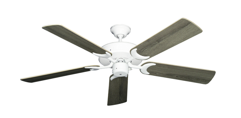 "Picture of Patio Fan Pure White with 52"" Barnwood Blades"