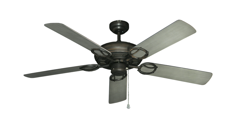 "Picture of Trinidad Oil Rubbed Bronze with 52"" Outdoor Brushed Nickel BN-1 Blades"