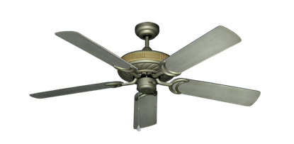 """Picture of Atlantis Antique Bronze with 52"""" Outdoor Brushed Nickel BN-1 Blades"""