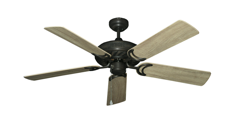 "Atlantis Oil Rubbed Bronze with 52"" Beachwood Blades"
