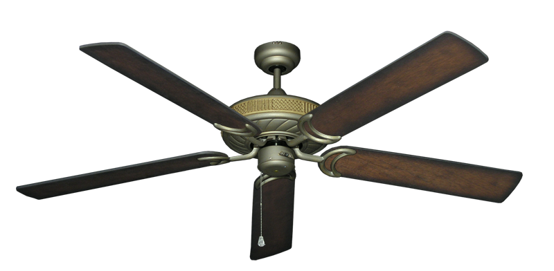 """Picture of Atlantis Antique Bronze with 60"""" Distressed Hickory Blades"""