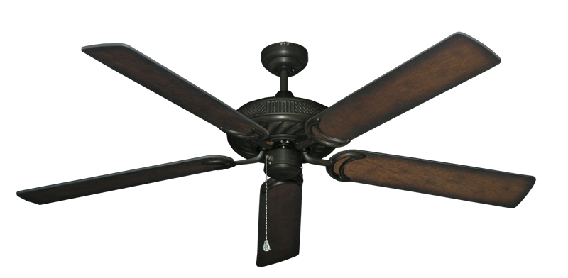 """Atlantis Oil Rubbed Bronze with 60"""" Distressed Hickory Blades"""