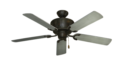 "Picture of Centurion Oil Rubbed Bronze with 52"" Outdoor Brushed Nickel BN-1 Blades"