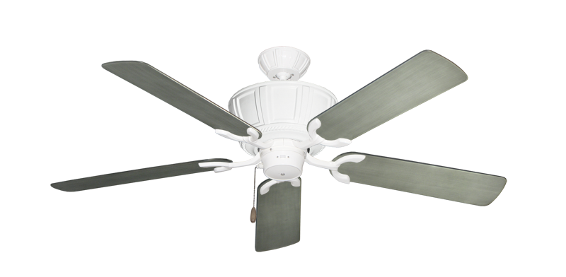 "Picture of Centurion Pure White with 52"" Outdoor Brushed Nickel BN-1 Blades"