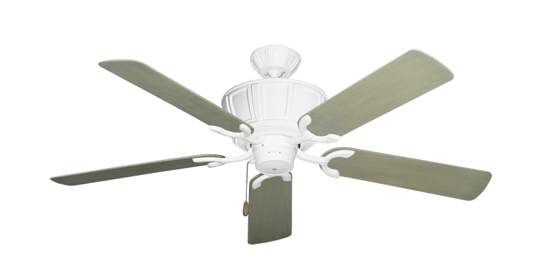 """Centurion Pure White with 52"""" Outdoor Driftwood Blades"""