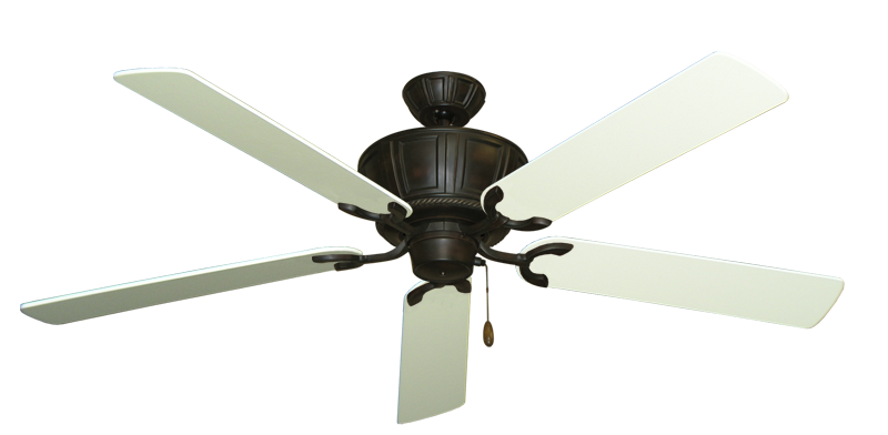 """Picture of Centurion Oil Rubbed Bronze with 60"""" Antique White Blades"""