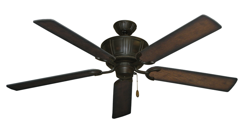 "Centurion Oil Rubbed Bronze with 60"" Distressed Hickory Blades"
