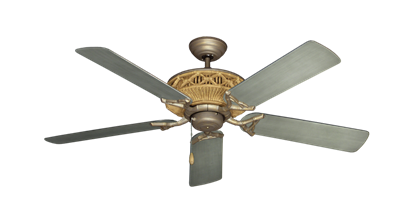 "Picture of Tiki Antique Bronze with 52"" Outdoor Brushed Nickel BN-1 Blades"