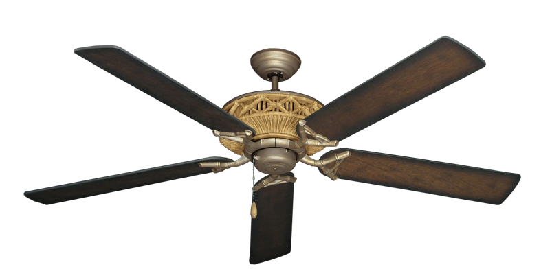 """Picture of Tiki Antique Bronze with 60"""" Distressed Hickory Blades"""