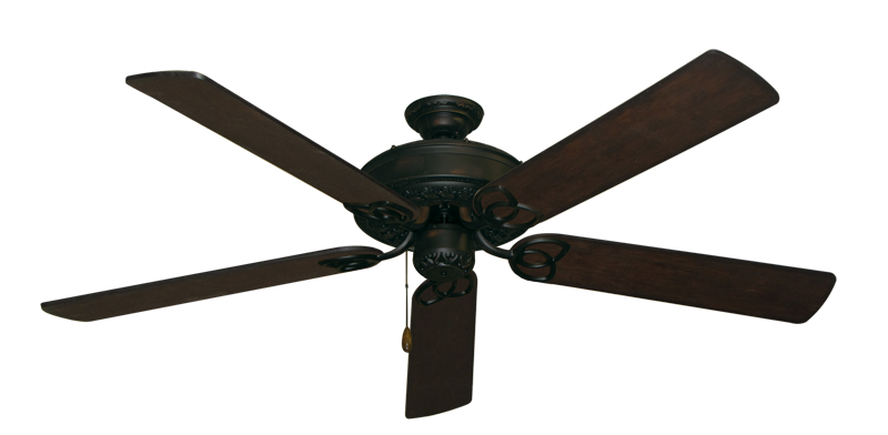 "Picture of Renaissance Oil Rubbed Bronze with 60"" Distressed Walnut Blades"