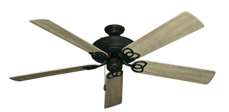"""Picture of Renaissance Oil Rubbed Bronze with 60"""" Beachwood Blades"""