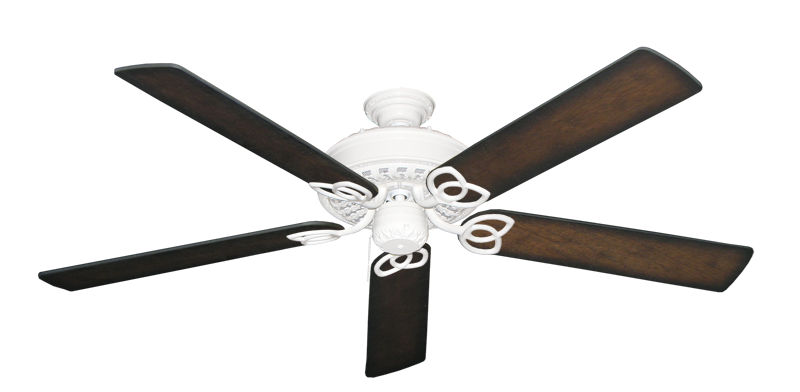 """Picture of Renaissance Pure White with 60"""" Distressed Hickory Blades"""