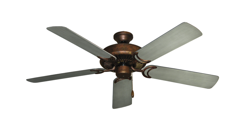 "Picture of Riviera Burnished Copper with 52"" Outdoor Brushed Nickel BN-1 Blades"