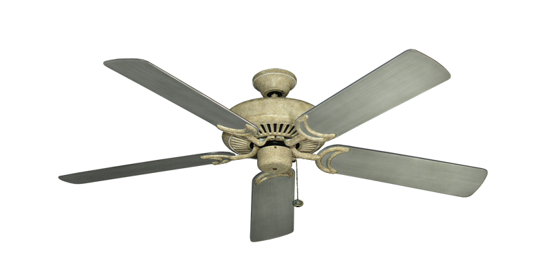 """Picture of Riviera Roman Stone with 52"""" Outdoor Brushed Nickel BN-1 Blades"""