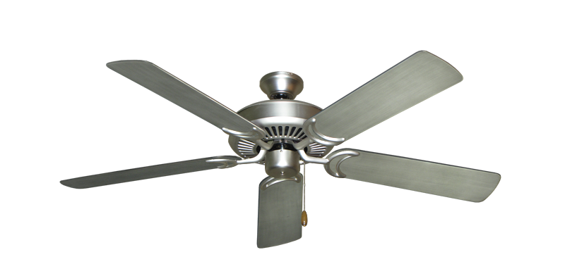 """Picture of Riviera Satin Steel with 52"""" Outdoor Brushed Nickel BN-1 Blades"""