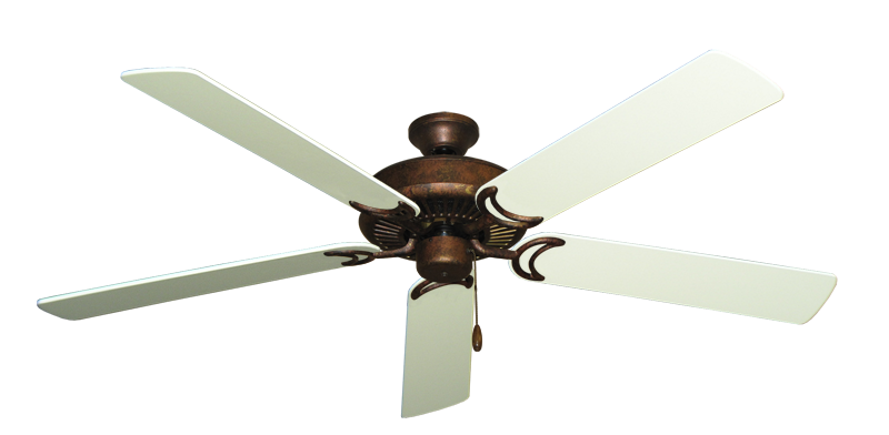 """Picture of Riviera Burnished Copper with 60"""" Antique White Blades"""