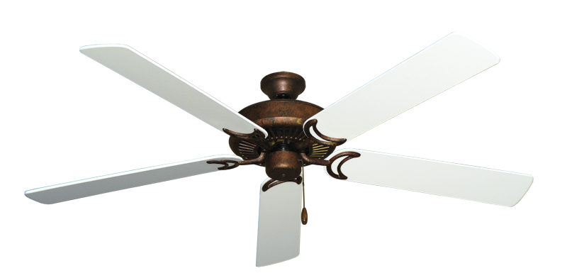 "Picture of Riviera Burnished Copper with 60"" Pure White Blades"