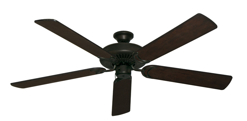 "Picture of Riviera Oil Rubbed Bronze with 60"" Distressed Walnut Blades"