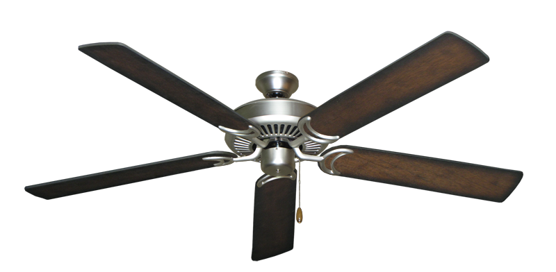 """Picture of Riviera Satin Steel with 60"""" Distressed Hickory Blades"""