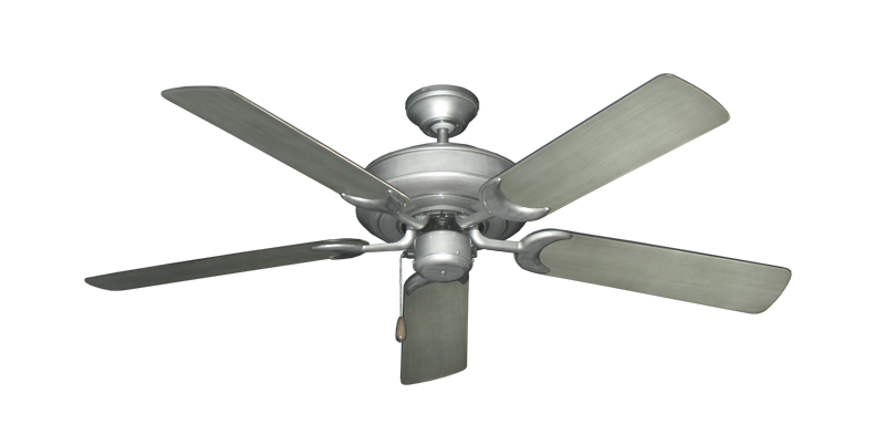 """Picture of Raindance Brushed Nickel BN-1 with 52"""" Outdoor Brushed Nickel BN-1 Blades"""