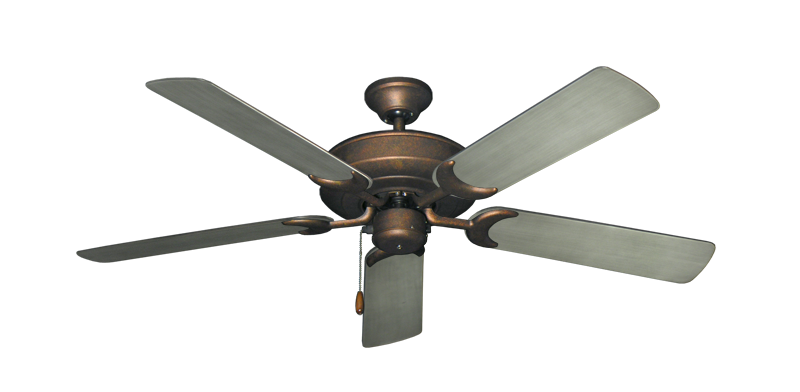 """Picture of Raindance Burnished Copper with 52"""" Outdoor Brushed Nickel BN-1 Blades"""