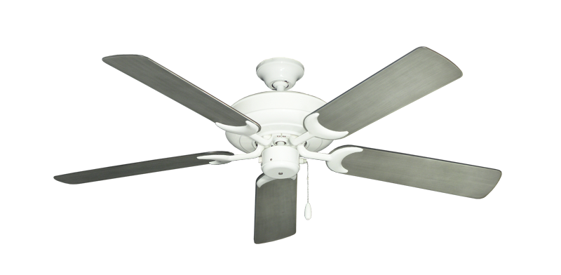 "Picture of Raindance Pure White with 52"" Outdoor Brushed Nickel BN-1 Blades"
